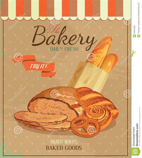 affiche vintage cuisine poster with bread baton baguette bun baton and