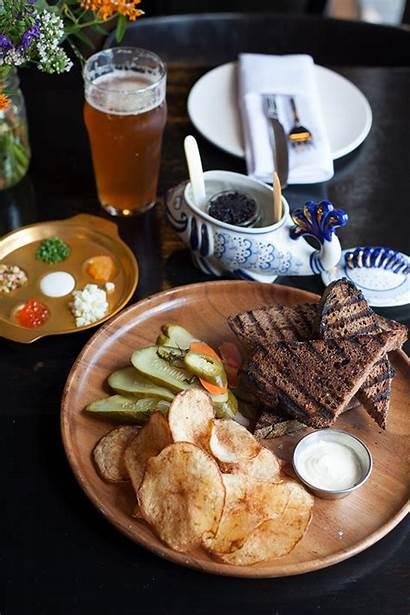 Caviar Restaurant Bar Heritage Chicago Chips Fish