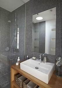 Salle De Bain Moderne Petit Espace : petite salle de bain nos astuces pour optimiser l espace ~ Dailycaller-alerts.com Idées de Décoration