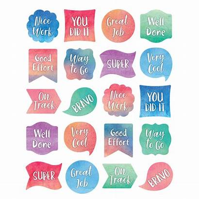 Watercolor Stickers Teacher Awards Incentives Classroom Happy