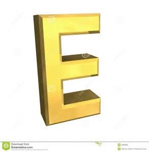 Gold Letter E