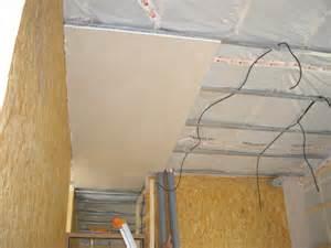 le placo partie 1 3 plafond d 233 but des murs le de giniejyl la cabane au bord de la