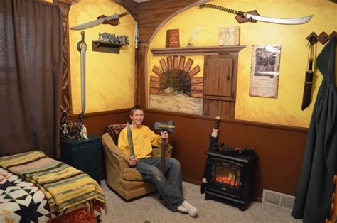 Johnny's Hobbit Hole Room  Rustic  Minneapolis By