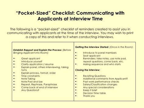 Resume Checklist For Employers by Process For Employers Complied By Dr Refaat