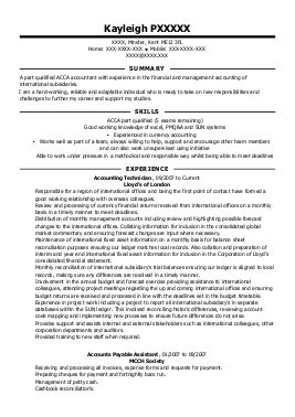 customer service management cv exles accounting and