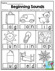 beginning sounds     great printables
