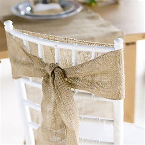 jute natural chair sash vintage shabby chic country wedding