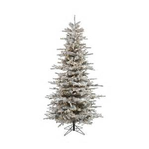 shop vickerman 7 5 ft 1228 count pre lit slim flocked artificial christmas tree with constant