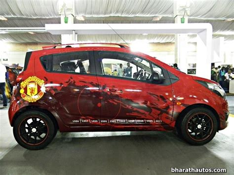 Modified Chevrolet Beat Images by Gm India To Launch Chevrolet Beat Manchester United