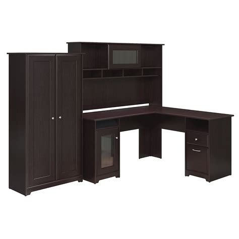 Bush Furniture Cabot Collection 60w L Desk Hutch And 2