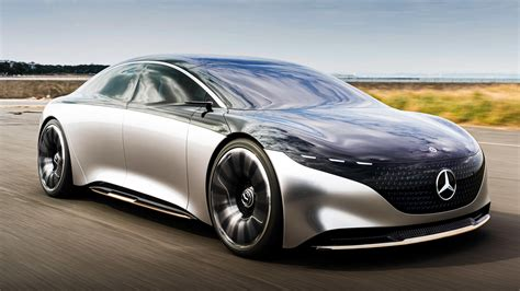 driving  lovely mercedes benz vision eqs concept