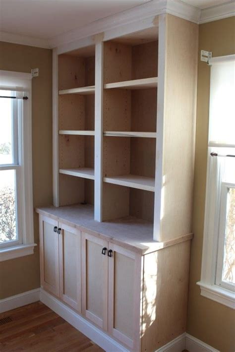 A Built In Bookcase by Built In Bookcase With Doors For The Home In 2019