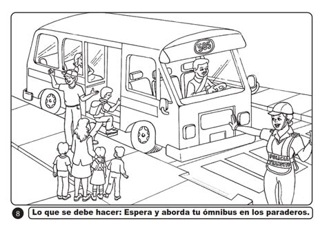 Dibujos sobre seguridad vial para colorear Imagui