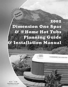 Dimension One Spas Home Hot Tubs Users Manual D1  U0026  Home