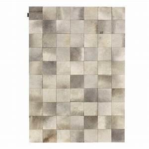 Tapis Cuir Patchwork : tapis de salon prestige beige en cuir de vache style ~ Teatrodelosmanantiales.com Idées de Décoration