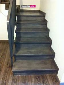 Beton Cire Deco : beton cir sur escalier brut id e ~ Premium-room.com Idées de Décoration