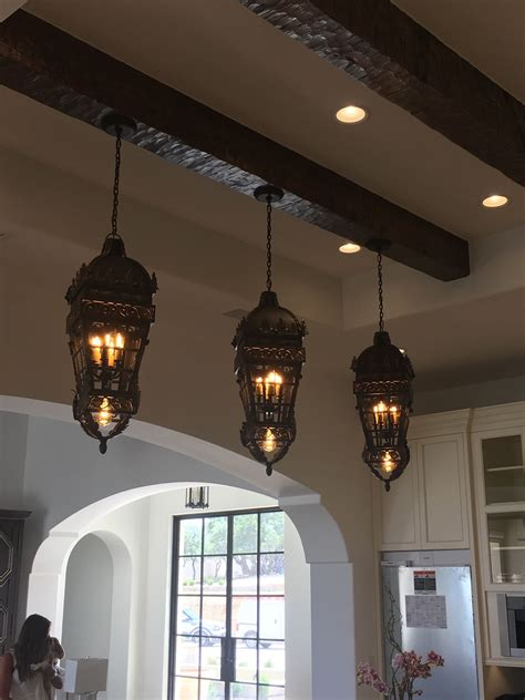 Spanish or European inspired pendant lanterns are