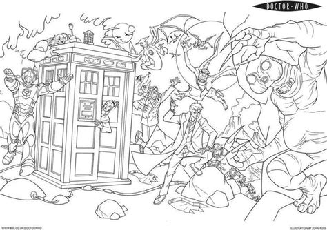 Coloring Pages Doctor Who - Eskayalitim