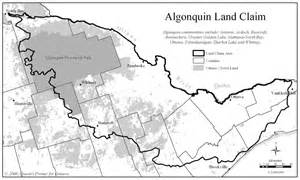 Algonquin Indian Tribe Map
