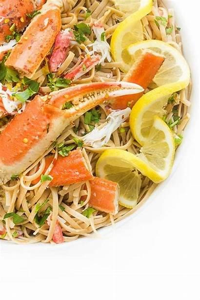 Crab Sauce Wine Recipe Garlic Linguine Pasta