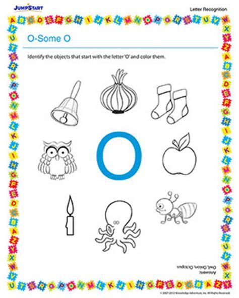 o some o recognition worksheet for preschoolers jumpstart