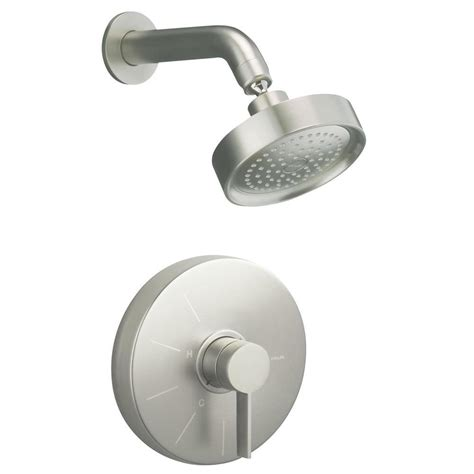 kohler stillness shower faucet trim in vibrant brushed nickel k t949 4 bn the home depot