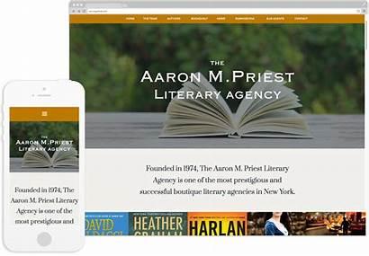 Literary Agency Priest Aaron Website Development Redesign
