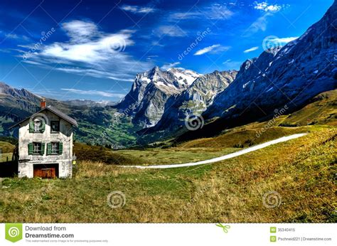 chalet in swiss alps stock image image of nature building 35340415