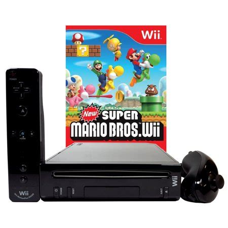 Nintendo Wii Console New by Refurbished Nintendo Wii Black Console With New