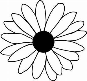 Black And White Daisy Clipart - Clipart Suggest