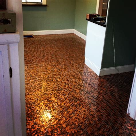 kitchen floor made of pennies 315 best images about for your project on 8070
