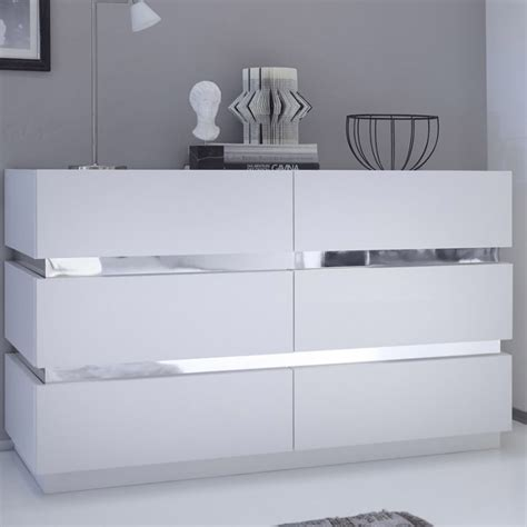 commode design laqu 233 blanc et chrome accrodesign