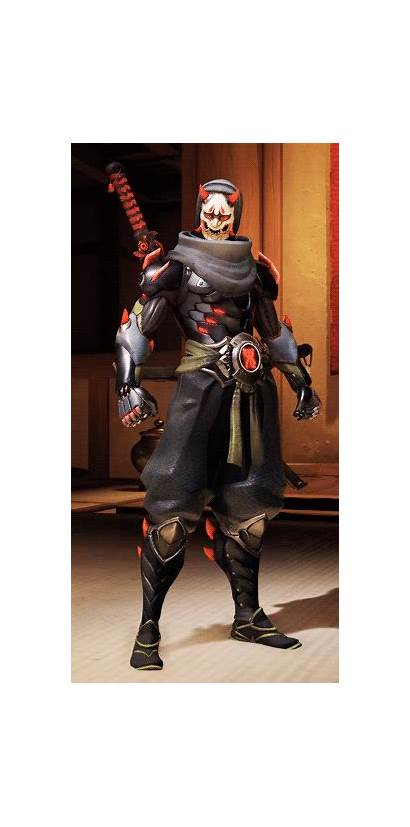 Genji Oni Overwatch Shimada Cosplay Skin Costume