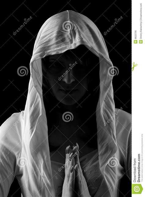 Woman in hood stock photo. Image of prayer, youth, cowl