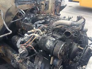What U0026 39 S Left Under Hood Of Orange County School Bus After Tues  Fire  30 Middle Schoolers Got Off