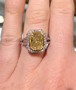 Canary Yellow Diamond Engagement Ring