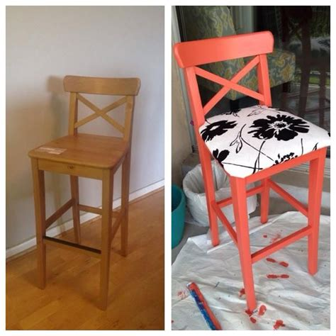 ikea bar stool hack this one is my own super happy with how it came out ikea ingolf bar stool hack pins by