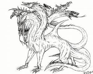 Hydra Sketch by ZeitgeistDragon on DeviantArt
