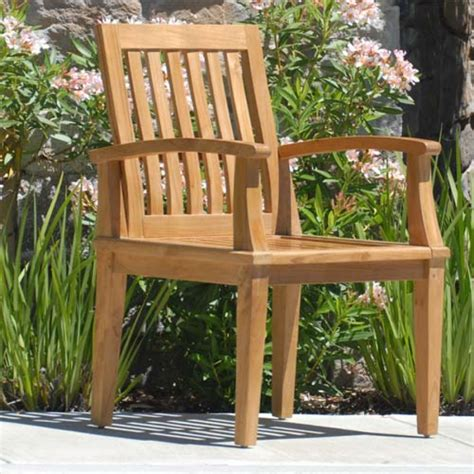 teak patio dining chair bali
