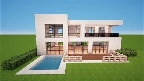 Minecraft Modernes Zwei Familien Haus Bauen Tutorial