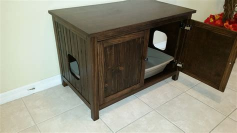 custom litter box cabinets double sided divided odor free custom hand made in usa