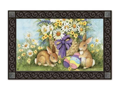 easter bunnies matmate interchangeable doormat