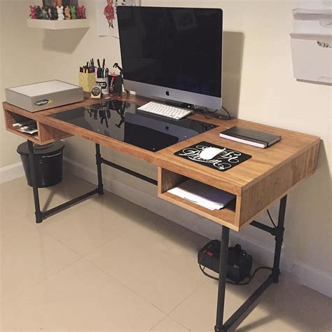 steel pipe desk legs industrial design desk with steel pipe legs and an