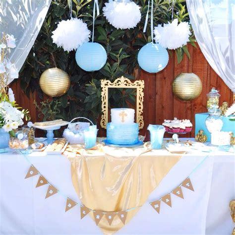 blue christening decorations themed baptism baptism ideas baptism