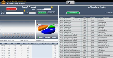 supply inventory planning template excel inventory