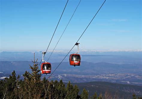 Cable Car Ski Lift. Borovets, Bulgaria Stock Images