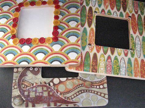 decoupage mosaic frame hgtv