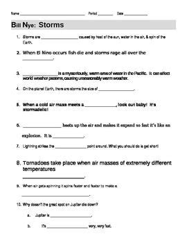 bill nye the science storms worksheet bill nye storms guide worksheet bill nye el nino