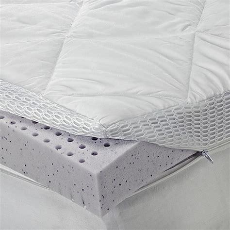 bed bath and beyond mattress topper sheex 174 theragel memory foam mattress topper bed bath