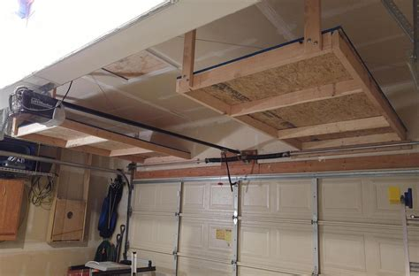 garage door storage project diy finished